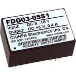Фото 2/2 FDD03-05S1, DC/DC преобразователь, 2Вт, вход 9-18В, выход 5В/400мА