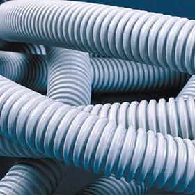 Труба гофрированная ПВХ 25 мм с протяжкой легкая серая (50м)