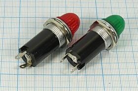 Фото 1/3 Держатель ламп с цоколем E10/13 с зеленым светофильтром 5711 G держатель патрон ламп\E10/13\пл\ зел\2C\LH-005.GNX\