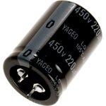 Фото 3/3 ECAP (К50-35), 220 мкФ, 450 В, 105°C, Конденсатор электролитический алюминиевый