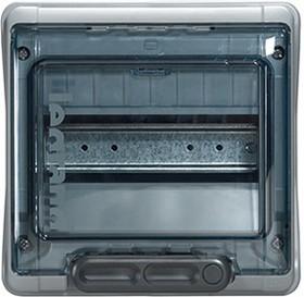Фото 1/4 Бокс ОП Plexo IP65 8м сер/дым. двер. Leg 601978