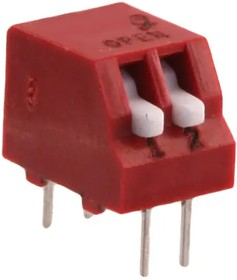 76PSB02ST, Switch DIP ON OFF SPST 2 Piano 0.15A 30VDC PC Pins 2000Cycles 2.54mm Thru-Hole Tube