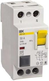 Фото 1/2 Выключатель дифференциального тока (УЗО) 2п 16А 30мА тип AC ВД1-63 ИЭК MDV10-2-016-030
