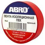 ABRO Изолента (Красная) ET-912-R
