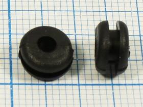 Втулка проходная резиновая под кабель диаметром до 3мм , чёрная, № 702 B втулка проход\d 3x 5xd 8\d 5x2,2\резин\чер\Mi3x5\