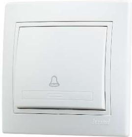 Выключатель кнопочный 1-кл. СП Мира бел/бел. Lezard 701-0202-103