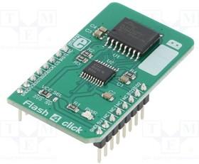 MIKROE-3191, Плата макетная; память Flash; QSPI,SPI; S25FL512S; 3,3/5ВDC