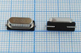 кварцевый резонатор 27.120МГц в корпусе HC49SMD, нагрузка 30пФ, 27120 \SMD49S4\30\ 10\ 30/-40~85C\49S-SMD\1Г