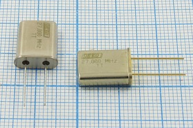 Кварц 27МГц в корпусе HC49U на расширенный диапазон -40~+85С, 3-ья гармоника, без нагрузки, 27000 \HC49U\S\ 20\ 40/-40~70C\РК374МД-7ВТ\3Г