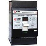 Автоматический выключатель ВА-99 250/125А 3P 35кА EKF PROxima | mccb99-250-125 | EKF