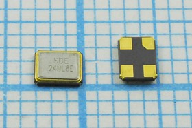 кварцевый резонатор 24МГц в корпусе SMD 3.2x2.5мм 24000 \SMD03225C4\ 8\ 10\ 30/-40~85C\SMD3225\1Г