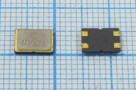 кварцевый резонатор 24МГц в корпусе SMD 7x5мм 24000 \SMD07050C4\12\ 10\ 30/-40~85C\SMD0705(4P)\1