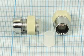 Фото 1/2 Держатель светодиода 5мм пластмассовый покрытый никелем;№ 5280 M держатель светодиода\ 5мм\10x15\\\Ni пл\5\