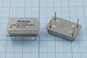 Кварцевый генератор на два выхода и две частоты 9.6МГц и 1.8432МГц, 2-х ч гк 9600 \\FULL\T/CM\5В\ SCO-031\вторая част 1,8432М