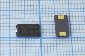кварцевый резонатор 22.1184МГц в корпусе SMD 8x4.5мм, 22118,4 \SMD08045C2\20\ 30\\6X[SMD08045C2]\1Г TXC
