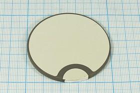Ультразвуковой диск излучатель из пьезокерамики 50x3мм, 46кГц, пэу 50x 3,0\диск\46,1кГц\ \PZT4\\RSP-43\