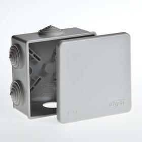 Тусо.Коробка расп. для о/п, 85х85х40мм, 6 вводов, IP54