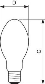 Фото 1/3 Лампа газоразрядная ртутно-вольфрамовая ML 100Вт эллипсоидная 3300К E27 225-235В SG 1SL/24 PHILIPS 928090056891 / 871150018048330