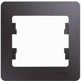 Фото 1/2 Рамка 1-м Glossa графит SchE GSL001301