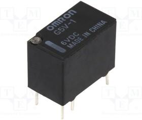 G5V-1 6VDC, Реле: электромагнитное; SPDT; Uобмотки:6ВDC; 0,5A/125ВAC; 150мВт