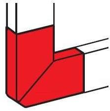 DLP Угол плоский Г-образный 35/50x150 белый