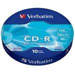 Оптический диск CD-R VERBATIM 700Мб 52x, 10шт., bulk [43725]