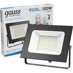 Прожектор светодиодный LED 100W IP65 6500К черный | 613100100 | Gauss