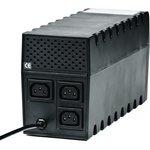 Фото 3/3 RPT-600A, Источник бесперебойного питания (ИБП/UPS), 600ВА/360Вт, IEC, line-interactive, черный