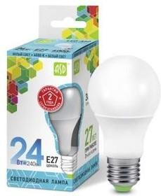 Лампа светодиодная LED-A60-standard 24Вт грушевидная 230В E27 4000К 2160Лм ASD 4690612014272