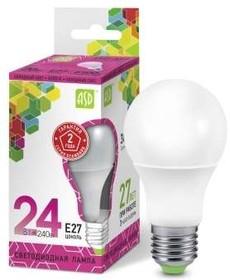 Лампа светодиодная LED-A60-standard 24Вт грушевидная 230В E27 6500К 2160Лм ASD 4690612014289