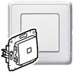 Cariva Белый Переключатель 1-клавишный с подсветкой | 773626 | Legrand