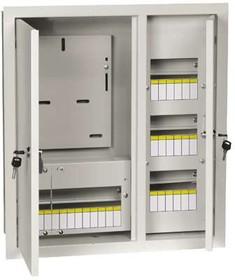 Щит учетно-распределительный встраиваемый ЩУРв-3/30зо-1 с окном с замком УХЛ3 IP31