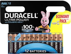 Элемент питания алкалиновый LR03-12BL Ultra Power (блист.12шт) Duracell Б0038767