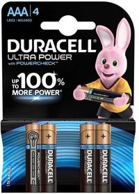 Элемент питания алкалиновый LR03-4BL Ultra Power (блист.4шт) Duracell Б0038762