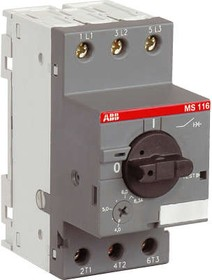 Фото 1/2 Выключатель авт. защиты двиг. MS-116-1.0 50kA ABB 1SAM250000R1005