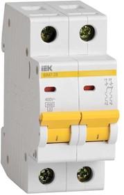 Выключатель автоматический двухполюсный 6А В ВА47-29 4.5кА