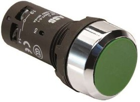 Кнопка CP1-30G-11 без фикс. 1HO+1H3 зел. ABB 1SFA619100R3072