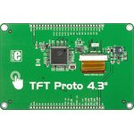 """Фото 3/3 MIKROE-1678, TFT Proto 4.3"""", Плата с сенсорным дисплеем 480х272"""