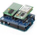Фото 3/4 MIKROE-1581, Arduino UNO click shield, Плата расширения для подключения модулей mikroElektronika серии click (mikroBUS) к Arduino UNO