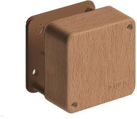 Коробка распр. ОП 79х79х32 бук (светл. основа) IP40 Рувинил 65004-38М