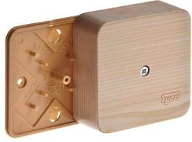 Коробка распр. ОП 79х79х32 сосна (светл. основа) IP40 Рувинил 65004-27М