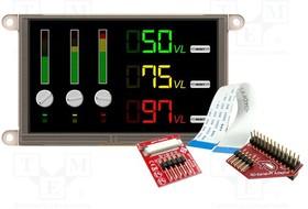 "GEN4-ULCD-50D-PI, Разрешение 800x480, Размер окна 110,88x62,83мм, 5"", -15-65°C"
