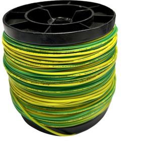 Фото 1/2 Провод силиконовый 20AWG 0,5 мм кв 100 м (желто-зеленый)
