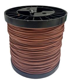 Провод гибкий медн. луж AWG 20 (0,5 мм кв) коричневый 100 м