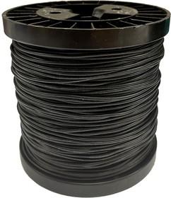 Провод гибкий медн. луж AWG 18 (0,75 мм кв) черный 100 м