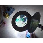 Фото 4/9 31-0406, Лупа на струбцине круглая 5D с подсветкой 90LED или 56 SMD, черная