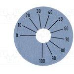 SKALA-F2, Шкала, Диапазон 270°,от 0 до 100, 45мм, Диам.отв 10мм