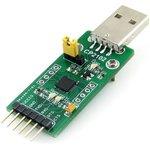Фото 2/7 CP2102 USB UART Board (type A), Преобразователь USB-UART на базе CP2102 с разъемом USB-A