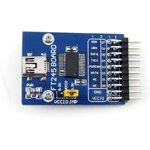 Фото 2/5 FT245 USB FIFO Board (mini), Преобразователь USB-FIFO на базе FT245 с разъемом USB mini-AB