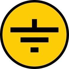 "Фото 1/3 Символ ""Заземление"" 30х30 IEK YPC20-ZAZEM-1-096"